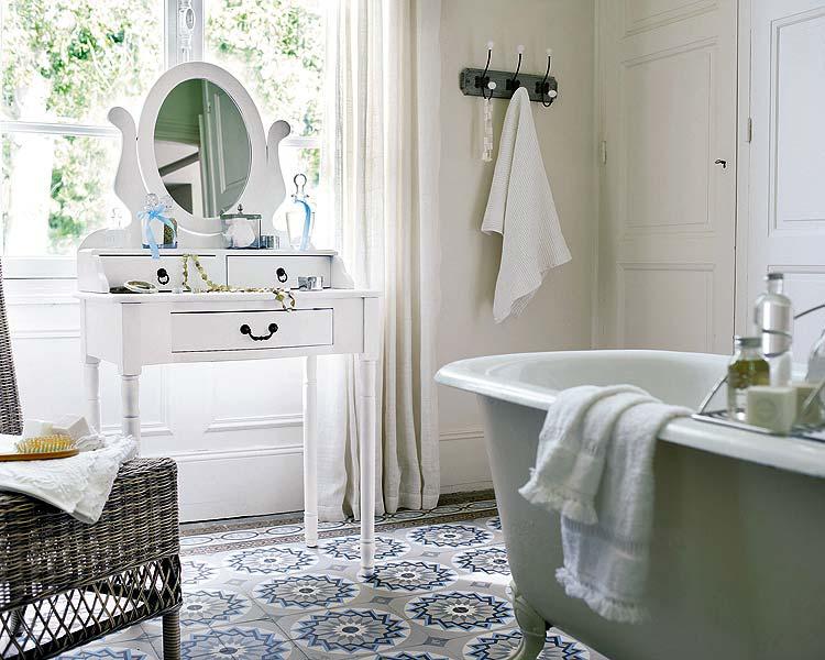 Un baño vintage